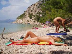 Nudist beach and camp in Istria
